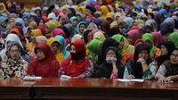 Wali Kota Surabaya berbicara di depan para Bumantik. Foto: (Dian Kurniawan/Liputan6.com)