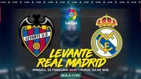 La Liga: Levante vs Real Madrid. (Bola.com/Dody Iryawan)