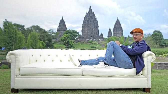 Anas Syahrul Alimi saat jumpa pers Prambanan Jazz Festival 2019 di Pelataran Candi Prambanan