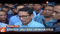 Sandiaga disambut ribuan kader Partai Amanat Nasional Dapil 10 Jawa Tengah di Pekalongan.