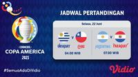 Link Live Streaming Copa America 2021 di Vidio Selasa 22 Juni 2021. (Sumber : dok. vidio.com)
