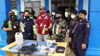 KKP kembali menangkap 4 orang pelaku bom ikan buronan Petugas Pengawas Perikanan Morowali pada Sabtu, 6 Februari 2021 pukul 13.00 WITA. (Dok KKP)