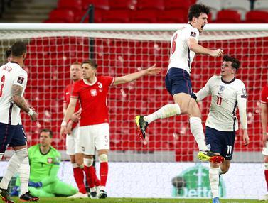 FOTO: Inggris Raih Poin Penuh Hadapi Polandia di Wembley