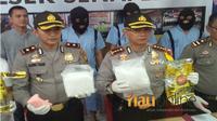 Kepolisian Resor Kota Pekanbaru mengungkap penangkapan sindikat peredaran narkoba, Jumat, 29 Juni 2018. (Riauonline.co.id)