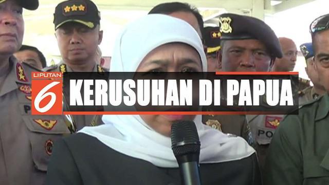 Menyusul peristiwa kerusuhan di Manokwari, Gubernur Khofifah meminta maaf kepada warga Papua.