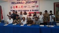 Forum Relawan Jokowi berharap Pemilu 2019 berlangsung damai. (Istimewa)