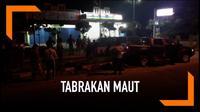 Akibat kelelahan usai melakukan pengamanan pemilu, seorang polisi tak sengaja menabrak tiga mahasiswa hingga tewas.