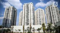 Suasana deretan tower apartemen di Jakarta, Selasa (28/7/2020). Bisnis apartemen sewa mengalami penurunan sebesar 56 persen hingga 57 persen pada kuartal II tahun ini dibandingkan dengan periode yang sama tahun lalu. (Liputan6.com/Faizal Fanani)