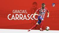 Gelandang tim nasional Belgia, Yannick Carrasco, memutuskan pindah dari Atletico Madrid ke Liga China agar menjaga peluang tampil di Piala Dunia tetap hidup. (Twitter/Atletico Madrid)