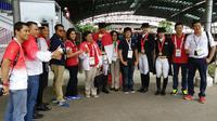EMAS - Larasati Gading mempersembahkan emas bagi Kontingen Indonesia dari cabang Berkuda (Situs resmi SEA Games)