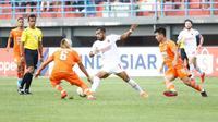 Borneo FC mengalahkan PSM Makassar pada pekan ke-13 Shopee Liga 1 2019 di Stadion Segiri, Samarinda, Sabtu (10/8/2019). (Bola.com/Abdi Satria)