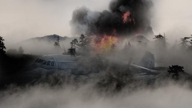 Ilustrasi Kecelakaan Pesawat (2)