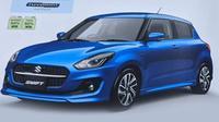 Siap memeriahkan pasar otomotif global tahun depan, wujud Suzuki Swift terbaru bocor. (Car and Bike).