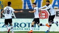 Jose Mouri (tengah) berhasil mencetak gol tunggal kemenangan Parma atas Juventus pada menit ke-60 (AP Photo/Marco Vasini)