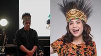 Arie Kriring (kiri). Nagita Slavina (kanan). (Instagram/@arie_kriting/YouTube/Rans Entertainment)