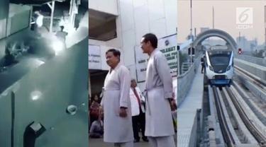 Video hit hari ini datang dari calon presiden Prabowo yang mengaku takut dokter, penjambretan terhadap tukang sate di Bekasi, dan rekaman penumpang LRT Palembang yang menangis karena LRT-nya mogok.