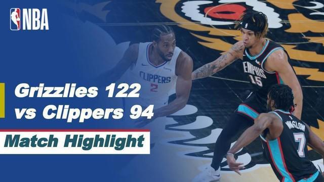 Berita Video Highlights NBA, Memphis Grizzlies  Kalahkan LA Clippers 122-94 (26/2/2021)