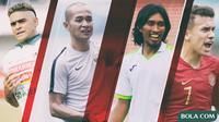 Kolase - Pemain Cristian Gonzales, Kurniawan Dwi Yulianto, Budi Sudarsono, Egy Maulana Vikri (Bola.com/Adreanus Titus)