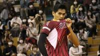 Pemain Nagano Tridents Rivan Nurmulki saat beraksi di Liga Voli Jepang atau V.League Divisio 1. (foto: Instagram @rivannurmulki)