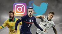 Neymar, Antoine Griezmann dan Toni Kroos. (Bola.com/Dody Iryawan)