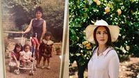 Chaty Sharon saat masih kecil bersama Ibu dan adik-adiknya (kiri), Chaty Sharon (kanan). (Instagram/@cathysharon)