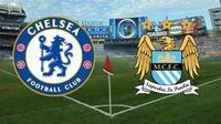 peta kekuatan antar lini Chelsea melawan Manchester City.