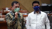 Menteri Kesehatan RI Terawan Agus Putranto dan jajaran hadiri rapat kerja dengan Komisi IX DPR RI di Gedung Nusantara DPR RI, Jakarta membahas RKA K/L 2021 pada 3 September 2020. (Kementerian Kesehatan RI)