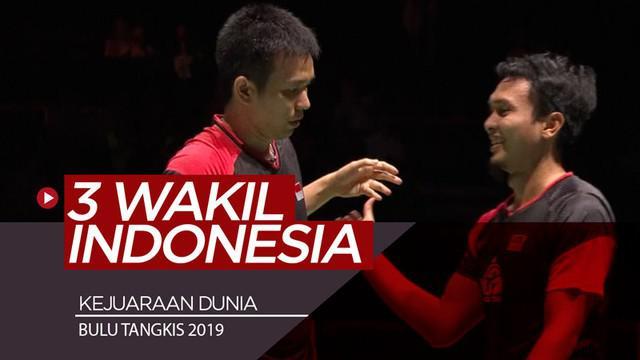Berita video Indonesia menempatkan 3 wakil di semifinal Kejuaraan Dunia Bulu Tangkis 2019 setelah mengalahkan lawan-lawannya pada perempat final, Jumat (23/8/2019).