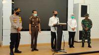 Wali Kota Palembang Harnojoyo mengumumkan PSBB di Kota Palembang sudah berlaku pada hari Rabu (20/5/2020) (Liputan6.com / Nefri Inge)