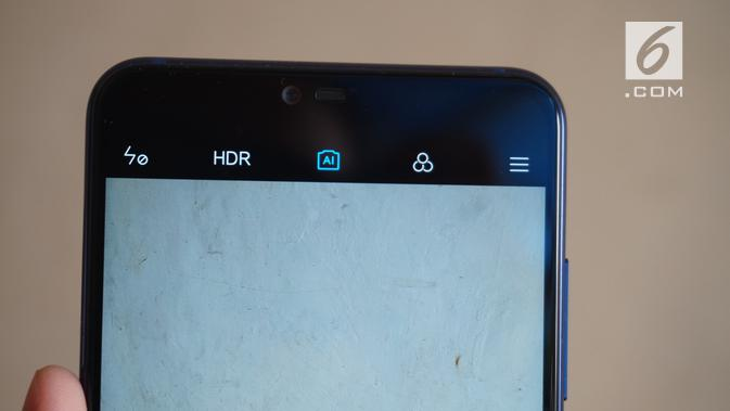 Xiaomi Mi 8 Lite kamera depan (Liputan6.com/ Agustin Setyo W)
