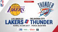 Jadwal NBA, Los Angeles Lakers vs Oklahoma City Thunder. (Bola.com/Dody Iryawan)