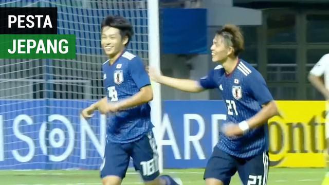 Berita video momen pesta gol Jepang U-19 saat menghadapi Irak U-19, laga sebelum menghadapi Timnas Indonesia U-19 pada perempat final Piala AFC U-19 2018, Kamis (25/10/2018).