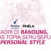 Fimelahood x Rexona Hadir di Bandung, Bahas Topik Seru Sepuar Personal Style