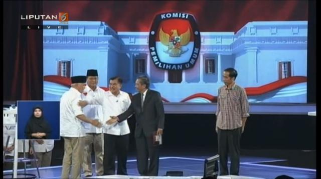 Prabowo-Hatta dan Jokowi-JK. (Liputan6.com)