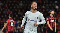 Eden Hazard jadi pahlawan kemenangan Chelsea. (Twitter)