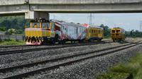 Kementerian Perhubungan terus menggenjot penyelesaian pembangunan jalur Kereta Api (KA) Trans Sulawesi (Foto: Dok Kementerian Perhubungan)