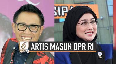 DPR RI periode 2019-2024 kedatangan 14 anggota dari kalangan selebriti.