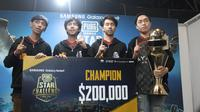 Tim asal Thailand, RRQ Athena, meraih juara di pentas PUBG Mobile Star Challenge 2018, di Dubai, Minggu (2/12/2018) dini hari waktu setempat.