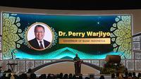 Gubernur BI, Perry Warjiyo di acara Indonesia Sharia Economic Festival (ISEF) 2019, di JCC Senayan, Jakarta, Rabu (13/11/2019).