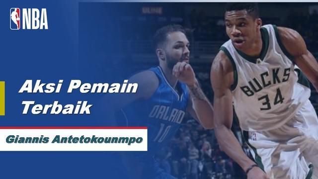 Berita Video Aksi Terbaik Giannis Antetokounmpo Saat Milwaukee Bucks Kalahkan Orlando Magic 110-101
