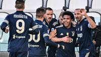 Selebrasi pemain Juventus saat melawan Bologna di Liga Italia (AFP)