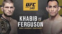 UFC 249: Khabib Nurmagomedov melawan Tony Ferguson pada 18 April 2020 di Broklyn, Amerika Serikat.