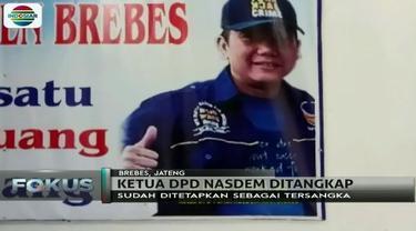 Selain Walikota Tegal, Siti Masitha, Ketua DPD Nasdem Brebes, Amir Mirza Hutagalung, juga ditangkap KPK.