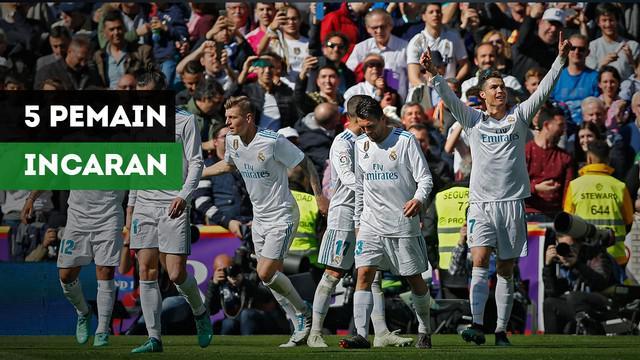 Real Madrid memiliki peluag mendatangkan lima pemain ini di musim panas nanti.