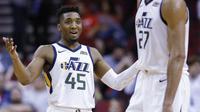 Donovan Mitchell menjadi bintang kemenangan Jazz kalahkan Rockets pada laga NBA (AP)