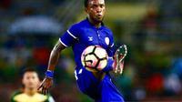 Bhayangkara FC mengonfirmasi telah menjalin kesepakatan dengan pemain Liberia, Zah Rahan Krangar. (Instagram/@zkrangar10)