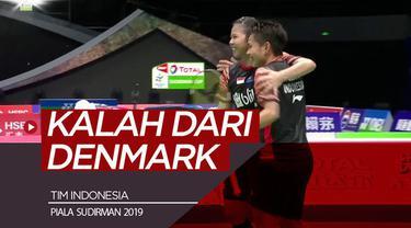 Berita video highlights pertandingan Piala Sudirman 2019 Grup 1B antara tim Indonesia melawan Denmark yang berakhir dengan skor 2-3, Rabu (22/5/2019).