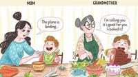 Perbedaan Anak Saat Bersama Nenek dan Ibu (Sumber: brightside.me)