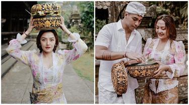 6 Potret Siti Badriah dan Suami Pakai Baju Adat Bali, Memesona