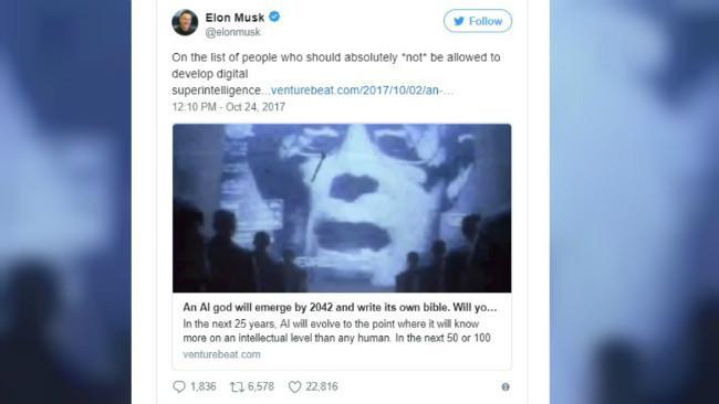Elon Musk menentang upaya menciptakan agama baru bertuhankan kecerdasan buatan (artificial intelligence, AI). (Sumber @elonmusk)